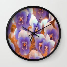 Violets in late summer Wall Clock