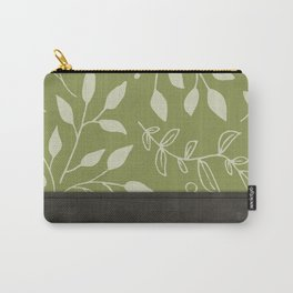 Leather and Greens Carry-All Pouch