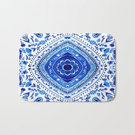 Indigo Mandala Tapestry Pattern 2 Bath Mat