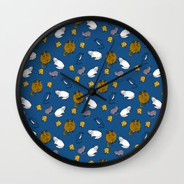 Mouse and Cat and Cheese Wall Clock