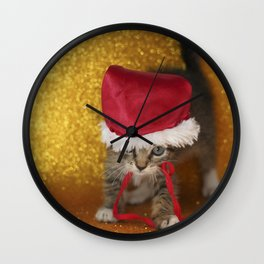 Cat Portrait | Christmas Wall Clock