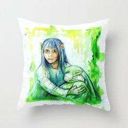 DARK CRYSTAL - GELFLING Throw Pillow