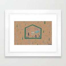 Somewhere in Northern Minnesota Framed Art Print