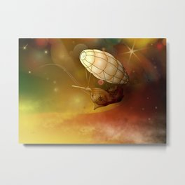 Airship Ethereal Journey Metal Print