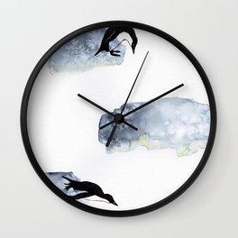 Penguin Floe Wall Clock