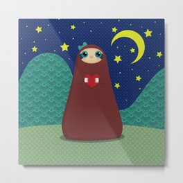 Zaza takes a night stroll Metal Print