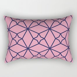 Pink Clay Moroccan Geometric Pattern Rectangular Pillow