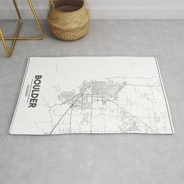 Minimal City Maps - Map Of Boulder, Colorado, United States Rug