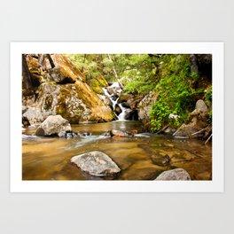 Small Falls in Corlieu Falls Art Print