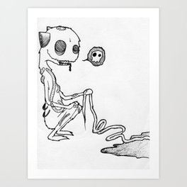 Cute Gore Monster Art Print