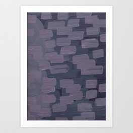 Purple Dash Art Print