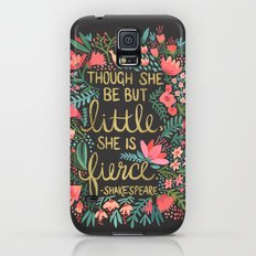 Little & Fierce on Charcoal Galaxy S5 Slim Case