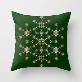 molecule of life. sacred geometry. alien crop circle Throw Pillow