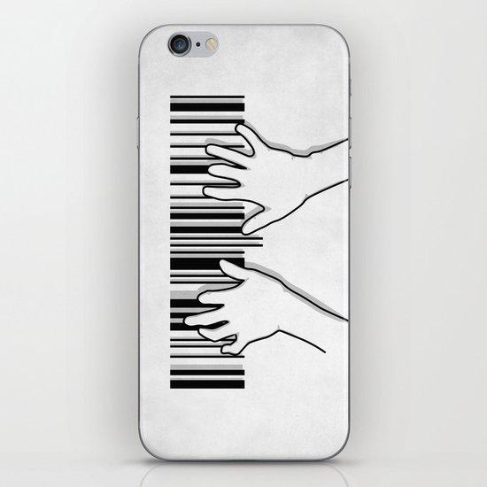 Barcode pianist iPhone & iPod Skin