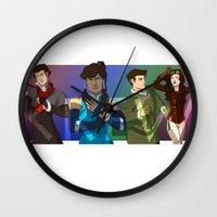 legend of korra Wall Clocks featuring The Krew - Legend of Korra by BBANDITT