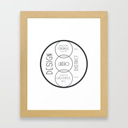 design district Framed Art Print