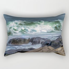 Waves at Flatrocks Rectangular Pillow