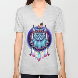 Dreamcatcher Cat Unisex V-Neck
