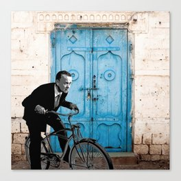 Let's travel on a bike  Canvas Print
