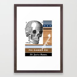 Phi Gamma Phi Fraternity - Emory & Henry College Framed Art Print
