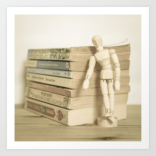 Little man books Art Print
