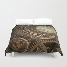 Steampunk Clockwork Duvet Cover