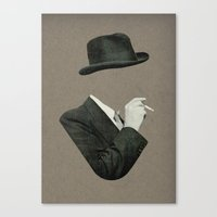smoke Canvas Prints featuring Smoke by Lerson