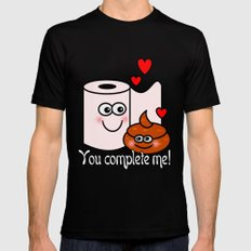 You Complete Me! Black Mens Fitted Tee MEDIUM