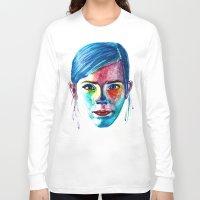 emma watson Long Sleeve T-shirts featuring Emma Watson by Stella Joy