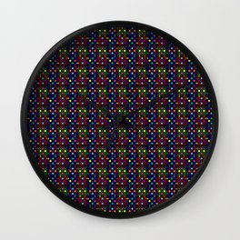 Kente Cloth Pattern Stained Glass Pattern Wall Clock