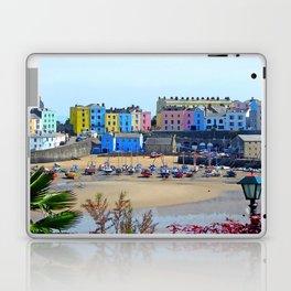 Tenby Harbour.Colour.Reflection. Laptop & iPad Skin