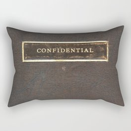 An Antique Book With the Title Confidential Rectangular Pillow