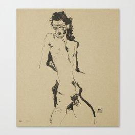Egon Schiele (1890-1918) - Nude Study - Vienna Secession - Klimt Canvas Print
