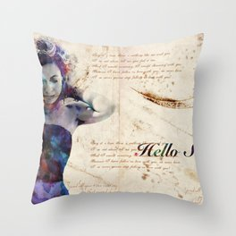 Well Hello There Sweetie Throw Pillow