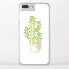 cactus christmas tree Clear iPhone Case
