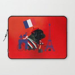 Proud Pug from Paris Laptop Sleeve