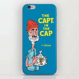 The Capt. In The Cap iPhone Skin