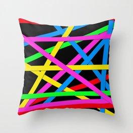 Day-Glo Stripes Throw Pillow
