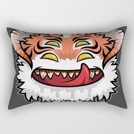 Diabolical Fuzzball (tiger) Rectangular Pillow