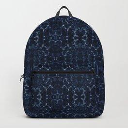 Indigo blue tie-dye pattern Backpack