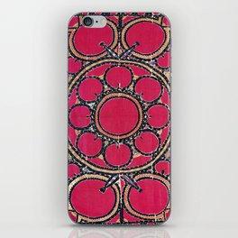 Tashkent Suzani Uzbekistan  Antique Carpet iPhone Skin