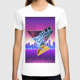 Aesthetic Synthwave Leopard Gecko Taco T-shirt