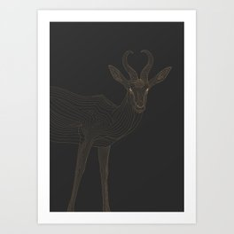 All lines lead to the...Springbok Art Print