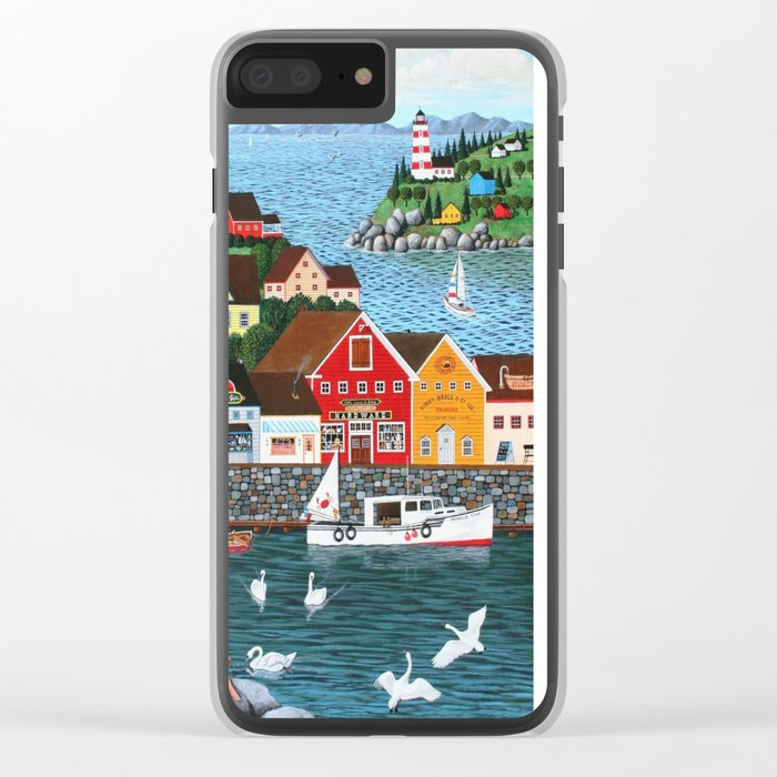 Swan's Cove Clear iPhone Case