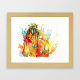 The Spirit of a Horse Framed Art Print