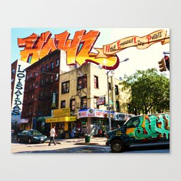 Living in Loisaida - New York Canvas Print