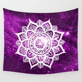 Purple Galaxy Mandala Wall Tapestry