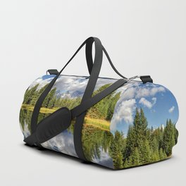 The Grand Tetons Panorama Duffle Bag