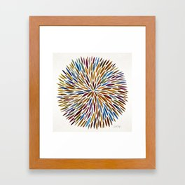 Watercolor Burst – Retro Palette Framed Art Print