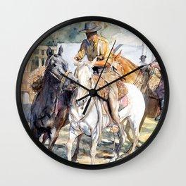 """Blanco, zaino y gateado"" Wall Clock"